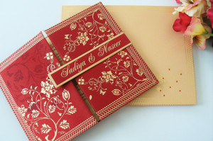 Silk satin Folio invitation (Set of 25) - SSFO-032,