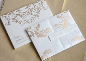 Luxury premium grade metallic finish invitation Folio Invitation - LYNN01