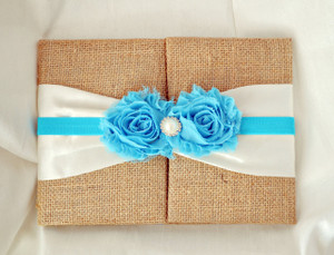 Burlap Folio Invitation --- BF-102
