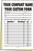 "FULL COLOR CARBONLESS FORMS 8.5""x11"" - (2 - Part) -  250"