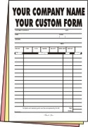 "FULL COLOR CARBONLESS FORMS 8.5""x11"" - (3 - Part) -  100"