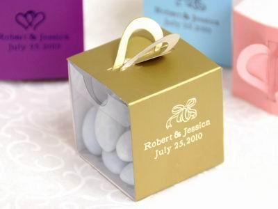 Personalized Gold Wrap Box