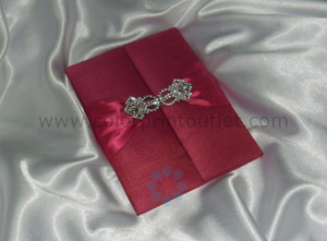 Satin/Silk Folio Invitation --- DSC--110