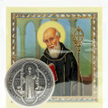 St. Benedict - Pocket Token & Prayer Card