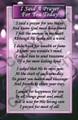 I Said A Prayer (Revised) - Prayer Card