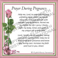 Prayer Card - Pregnancy ENGLISH (1 card)