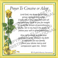 Prayer Card - Waiting To Conceive or Adopt  ENGLISH (Pack of 24)