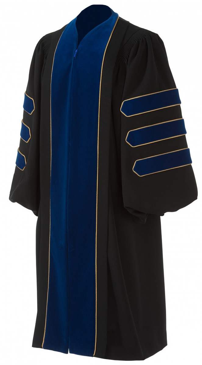 Doctoral Deluxe Gown - Artneedle Cap and Gown