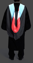 Doctoral Hood is made with satin lining and degree velvet.  Shell is black Pilgrim and matches robe.