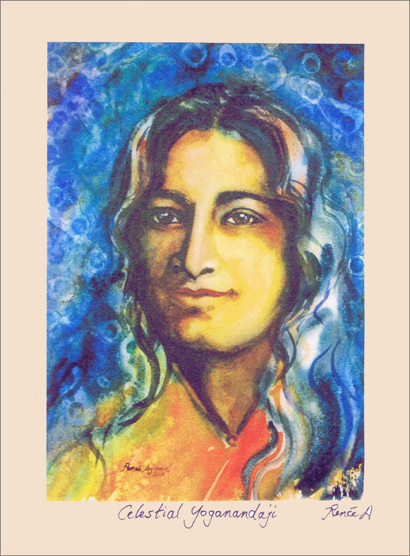 yogananda greeting cards inner path, renee agarwal watercolor art and cards