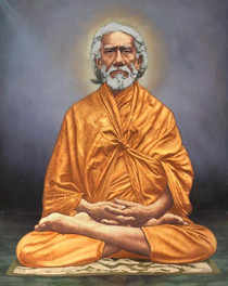 Swami Sri Yukteswar Photo - Full Lotus (Color) 8x10