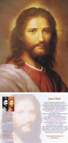 Jesus Christ Picture - Red - 5x7 Cardstock Print
