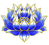Static Cling Sticker - Blue Lotus