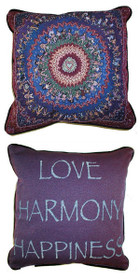 Green Heart/Love Harmony Happiness Pillow