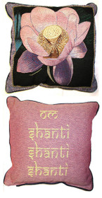 Pink Lotus/Om Shanti Pillow