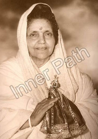 Anandamayi Ma Photo - Holding Krishna - Sepia 5x7