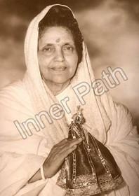 Anandamayi Ma Photo - Holding Krishna - Sepia 5x7