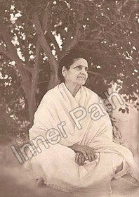 Anandamayi Ma Photo - Under a Tree - Sepia 5x7