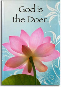 """God is the Doer""  Adorn the refrigerator and filing cabinets with our most celebrated designs! These magnets offer daily sustenance in the form of inspiration and guidance.  These magnets are created by Sarah Brink.  2"" x 3""  Dimensions: 2"" x 3"""