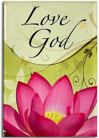 """Love God""  Adorn the refrigerator and filing cabinets with our most celebrated designs! These magnets offer daily sustenance in the form of inspiration and guidance.  These magnets are created by Sarah Brink.  Dimensions: 3.25"" x 2.15"""