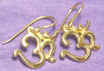 Om (Aum) Earrings - Gold Plated