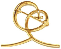 Joy Pin - Large Gold Plated