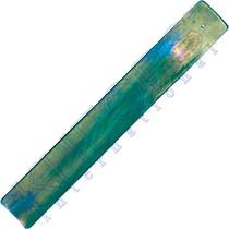Emerald Art Glass black rainbow art glass incense holder - inner path