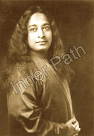 Paramhansa Yogananda Photo - Poster Pose - Sepia 8x10