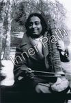 "Paramhansa Yogananda Photo - Playing an Esraj - 4"" Card"