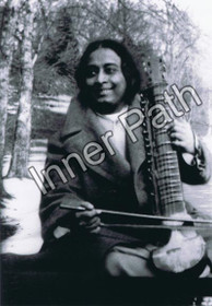 "Paramhansa Yogananda Photo - Playing an Esraj - 4"" Magnet"