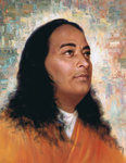 Paramhansa Yogananda Photo - Painted Background - 8x10