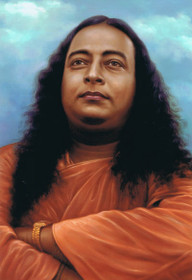 Paramhansa Yogananda - Cloud Background - Wallet Altar