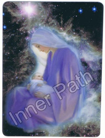"Mother Mary Picture - Mother of Christ - 4"" Card"