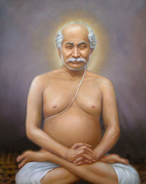 Lahiri Mahasaya Meditating Lotus Pose - Wallet Altar Card