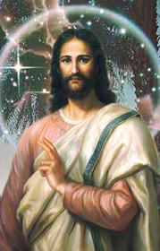 Jesus Christ Picture - Nebula - Wallet Altar
