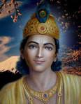 Krishna Photo - Blue Sky Blossoms - 8x10