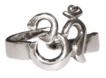 Om (Aum) Affirmation Ring - Silver