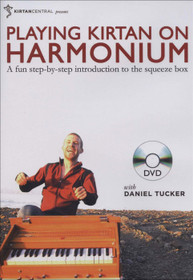 Playing Kirtan on Harmonium