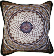 White Mandala Pillow