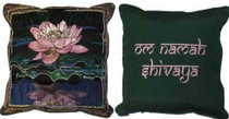 Pink and White Lotus/Om Namah Shivaya Pillow