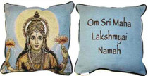 Lakshmi Orange Lotus/Mantra Pillow