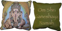 Lord of Success Ganesha/Mantra Pillow