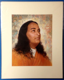 Paramhansa Yogananda Painted Background Art Print - 16 x 20