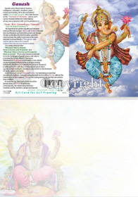 Ganesha In The Clouds - Greeting Card