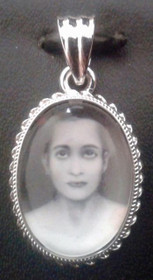 Babaji Pendant in Sterling Silver with Quartz Crystal