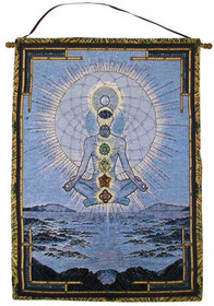 Blue Cosmos Wall Hanging