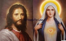 "Jesus Christ / Mother Mary High Resolution Art Card 8"" x 10"""