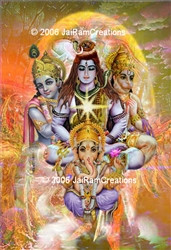 Hindu Forms of Deity Art Print 8x10 color