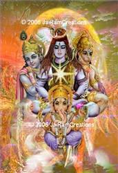 Hindu Forms of Deity Art Print 8x10 color