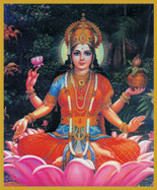 Lakshmi - Goddess of Love, Beauty and Wealth - Tall Jar Candle